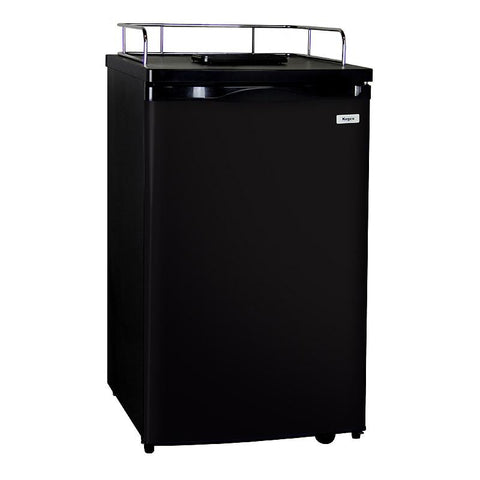 Kegco MDK-199B-01 Kegerator Cabinet Only - Black Cabinet and Door