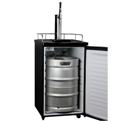 Kegco K199B-G Guinness® Dispensing Kegerator with Black Cabinet and Door