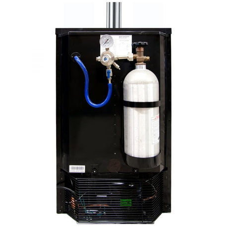 Kegco ICK19B-2 Dual Faucet Javarator Cold-Brew Coffee Dispenser with Black Cabinet and Door