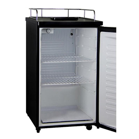 Kegco MDK-199SS-01 Kegerator Cabinet Only - Black Cabinet and Stainless Steel Door
