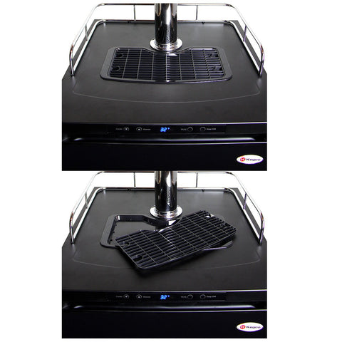 Kegco KOM30B-1 Digital Kombucharator - Black Cabinet with Matte Black Door