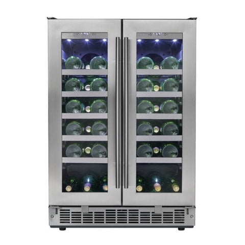 Silhouette Napa French Door Design Wine Cooler