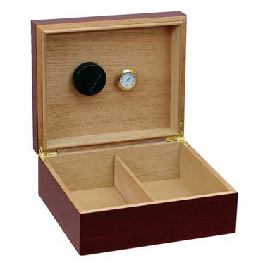 Prestige Import Group, Prestige Chalet Cherry or Black Humidor with Humidifier & Hygrometer, Humidor - Humidor Enthusiast