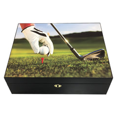 The 9-Iron Vivid 3D Golf Scene Humidor by Prestige Import Group