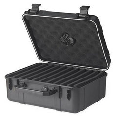 Prestige Import Group Cigar Caddy 40 Black Plastic Travel Humidor