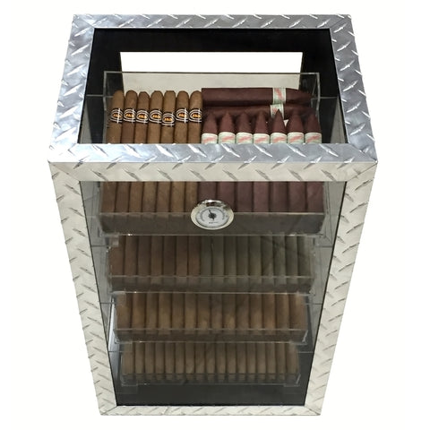 Prestige Import Group, Diamond Plate Display Humidor by Prestige Import Group, Humidor - Humidor Enthusiast