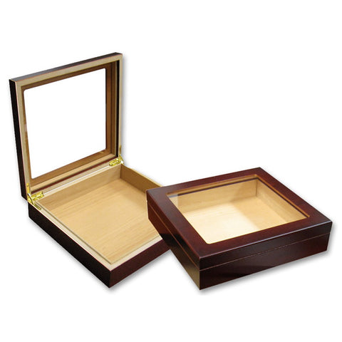 Prestige Import Group, Prestige Import Group 'Chateau Glasstop' Cigar Humidor w/ Humidifier, Humidor - Humidor Enthusiast