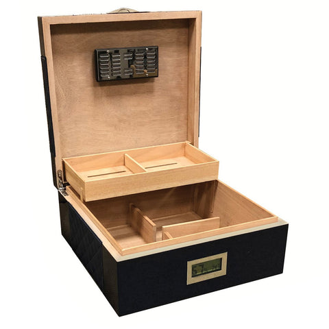 Prestige Import Group, Prestige Import Group 'Hampton' Desktop Humidor With Diamond Pattern, Humidor - Humidor Enthusiast