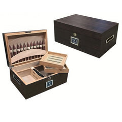 Prestige Import Group, Prestige Import Group 'Rockefeller' 130 Cigar Ebony Matte Humidor, Humidor - Humidor Enthusiast