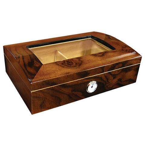 Prestige Import Group, Prestige Import Group 'The Addison' Walnut Burl Gloss Finish Humidor, Humidor - Humidor Enthusiast