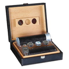The Alligator Leather Humidor Gift Set by Prestige Import Group