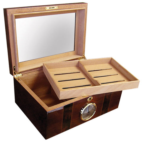Prestige Import Group, Prestige Import Group 'The Ambassador' Beveled Glass Top Humidor, Humidor - Humidor Enthusiast