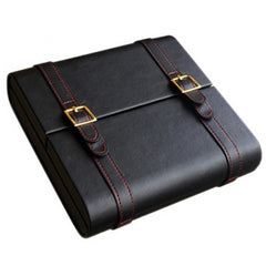 Prestige Import Group, Prestige Import Group 'The Augustus' Black Leather Traveler Humidor, Humidor - Humidor Enthusiast
