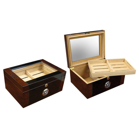 Prestige Import Group, Prestige Import Group 'The Berkeley II' 2-Tone High Glass Top, Humidor - Humidor Enthusiast
