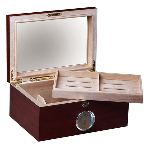 Prestige Import Group, Prestige Import Group 'The Berkeley' Humidor with Glass Top, Humidor - Humidor Enthusiast
