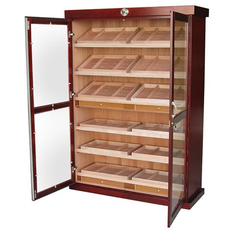 Prestige Import Group, Prestige Import Group 'The Bermuda' Large Display Cabinet Humidor, Humidor - Humidor Enthusiast