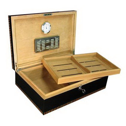 Prestige Import Group, Prestige Import Group 'The Brynmor' Black Lacquer Finish Humidor, Humidor - Humidor Enthusiast