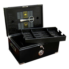 The Dakota Black Humidor with Scissors by Prestige Import Group