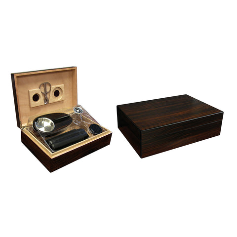 Prestige Import Group, Prestige Import Group 'The Davenport' Ebony Humidor Gift Set, Humidor Set - Humidor Enthusiast