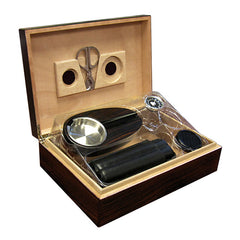 The Davenport Ebony Humidor Gift Set by Prestige Import Group