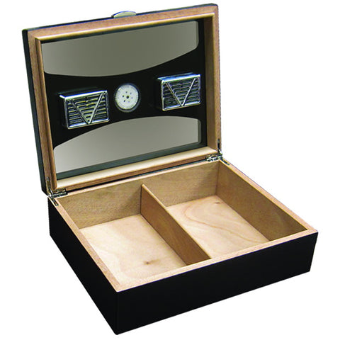 Prestige Import Group, Prestige Import Group 'The Delano' Black Humidor with UV Glass, Humidor - Humidor Enthusiast