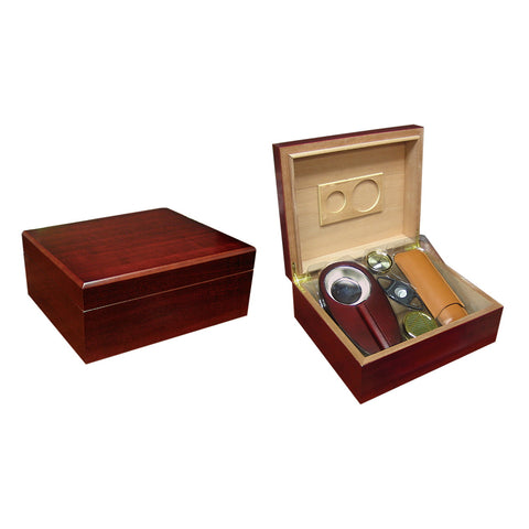 Prestige Import Group, Prestige Import Group 'The Diplomat' Cherry Humidor Gift Set, Humidor Set - Humidor Enthusiast