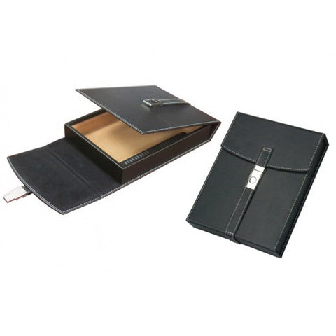 Prestige Import Group, Prestige Import Group 'The Florence' Black Leather Travel Humidor, Humidor - Humidor Enthusiast