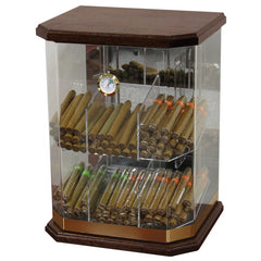 Prestige Import Group, Prestige Import Group 'The Franklin Wood' Acrylic Display Humidor, Humidor - Humidor Enthusiast