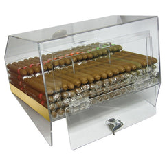 The Laurence Acrylic Display Humidor 3 Bins by Prestige Import Group