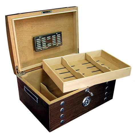 Prestige Import Group, Prestige Import Group 'The Montgomery' Studded Chest Humidor, Humidor - Humidor Enthusiast