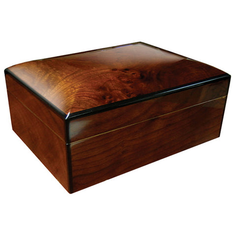 Prestige Import Group, Prestige Import Group 'The Napoli' Gloss Walnut Burl Finish Humidor, Humidor - Humidor Enthusiast
