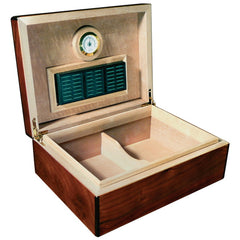 The Napoli Gloss Walnut Burl Finish Humidor by Prestige Import Group