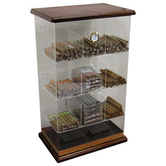Prestige Import Group, Prestige Import Group 'The Roosevelt Wood' Acrylic Display Humidor, Humidor - Humidor Enthusiast