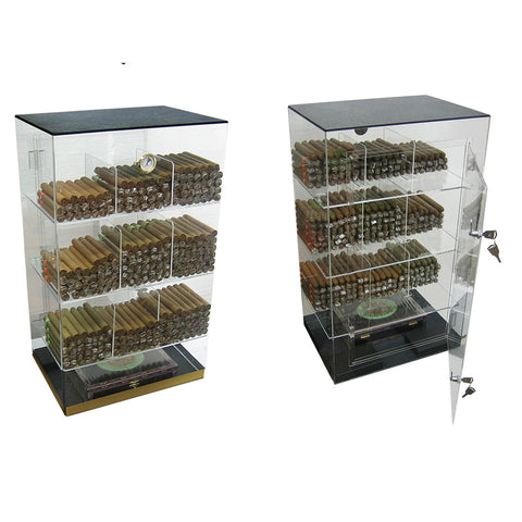 Prestige Import Group, Prestige Import Group 'The Roosevelt' Acrylic Display Humidor 9 Bins, Humidor - Humidor Enthusiast