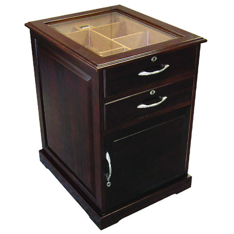 Prestige Import Group, Prestige Import Group 'The Santiago' End Table Humidor in Walnut, Humidor - Humidor Enthusiast