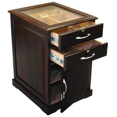 The Santiago End Table Humidor in Walnut by Prestige Import Group