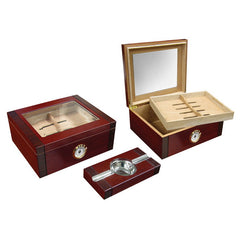 Prestige Import Group, Prestige Import Group 'The Sovereign' 2-Tone Humidor Set, Humidor Set - Humidor Enthusiast
