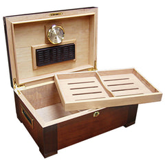 The Stetson Tobacco Leaf Inlay Humidor by Prestige Import Group
