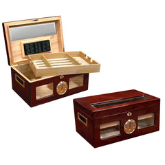 The Valencia High Gloss Cherry Humidor by Prestige Import Group