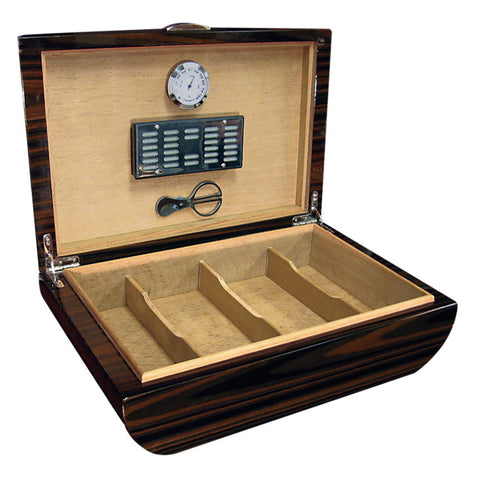 Prestige Import Group, Prestige Import Group 'The Waldorf' Arc Shaped Gloss Humidor, Humidor - Humidor Enthusiast