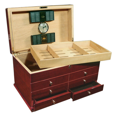 Prestige Import Group, Prestige Import Group 'The Landmark' Gloss Desktop Humidor, Humidor - Humidor Enthusiast