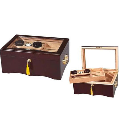 Quality Importers, Quality Importers El Rey Glass Top Humidor, Humidor - Humidor Enthusiast