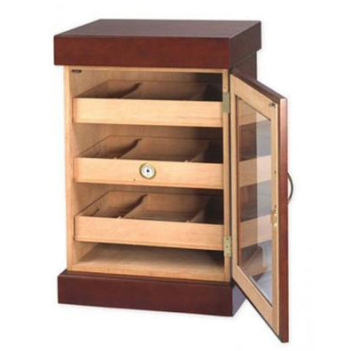 Quality Importers, Humidor Mahogany Finish Mini Cigar Tower HUM-1200M, Humidor - Humidor Enthusiast