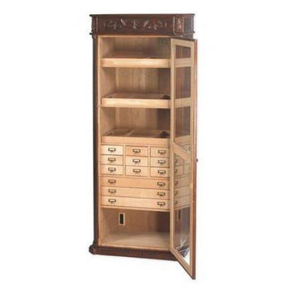 Quality Importers Olde English Display Cigar Tower Humidor