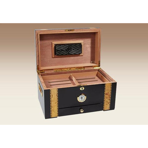 Quality Importers, Quality Importers Windermere Deluxe Desktop Humidor, Humidor - Humidor Enthusiast