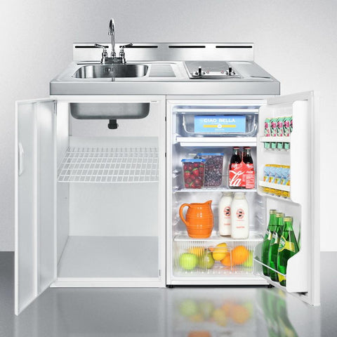 "Summit C39ELAUTOGLASS Complete Kitchen Convenience In Just 39"" Width"