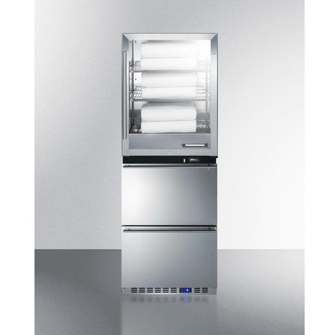 Summit FRBW52D Upper Warming Cabinet And Lower All-Freezer