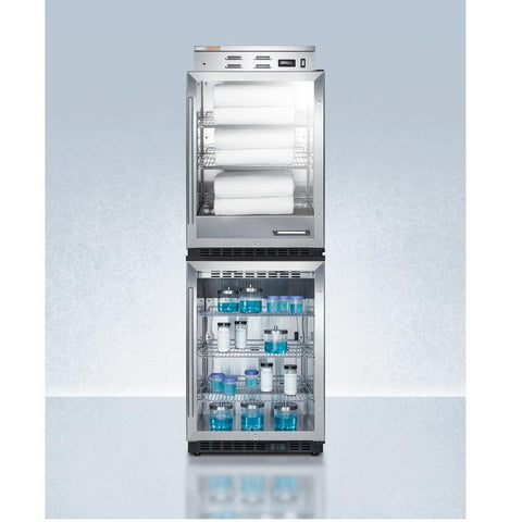 Summit PHC61G-SCR610BLSTACK Upper Warming & Lower Beverage Center