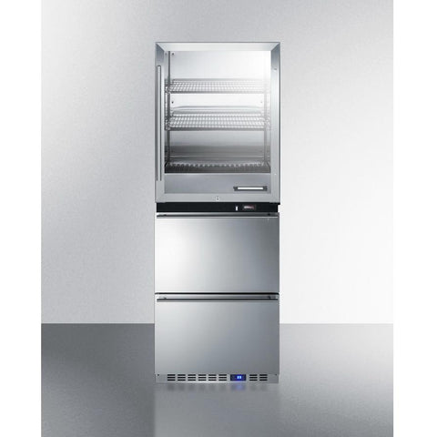 Summit RFBW62D Upper Warming Cabinet And Lower All-Refrigerator
