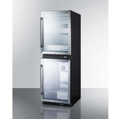 Summit RFBW61G Upper Warming Cabinet & Lower Beverage Center